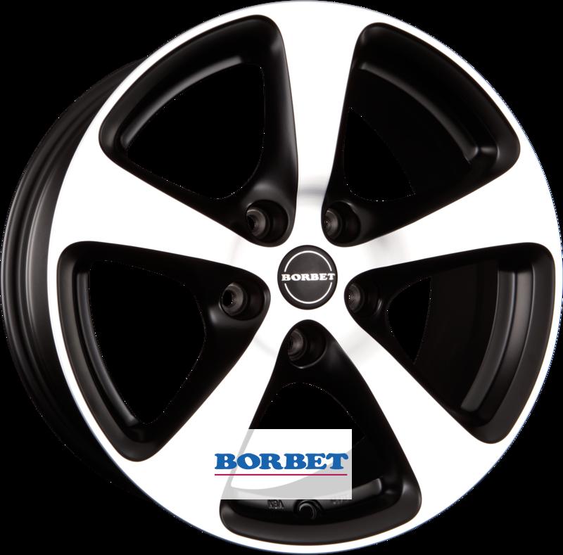 BORBET CC black polished matt
