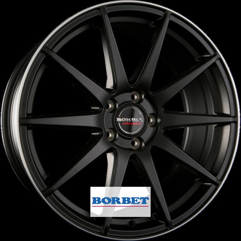 BORBET GTX black rim polished matt